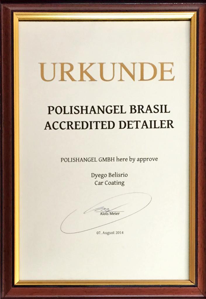 Certificado Polishangel